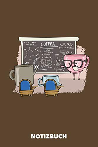Notizbuch: Kaffee Unterricht DIN A5 liniert - 120 Seiten für kreative Kaffee-Freaks (braun)