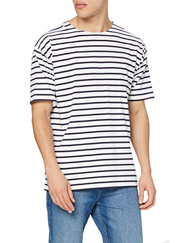 Armor Lux 1527, Camiseta Manga Corta Hombre, Blanco (400 Blanc/Navire), X-Large (Talla fabricante: 5)