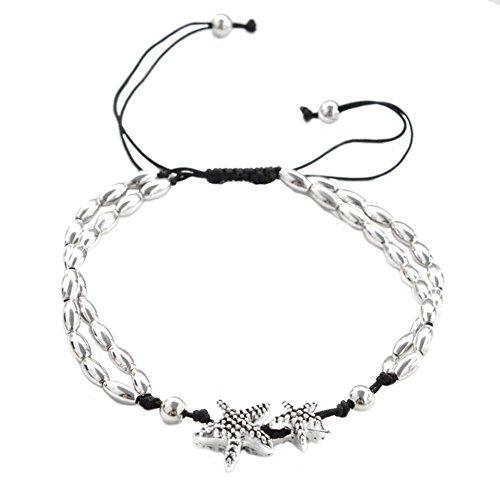 WeiMay Mujeres del pie Cadena Ajustable Charm cadena pendientes del pie clásica para mujer dorado joyas