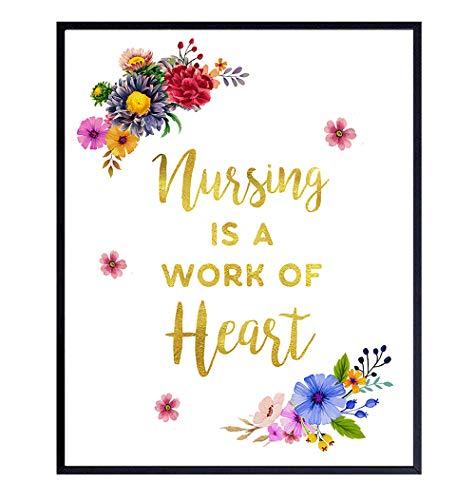 Nurse Wall Art Decor Poster - Appreciation Gift for Registered Nurse Practitioner, RN, Physician Assistant, PA, LPN, LVN, RNA, CNA - Medical Decoration for Hospital, Doctor Office - 8x10 UNFRAMED