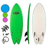 Goplus 5'5' Surfboard, Soft Top Surf Board, Lightweight Bodyboard...