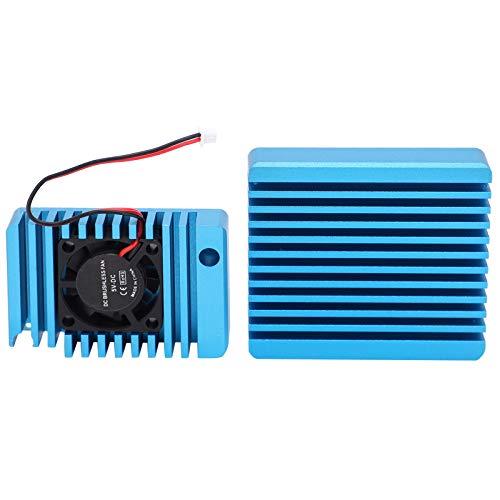 Weikeya Fregadero de Calor, aleación de Aluminio Hecho de disipación de Calor Eficiencia eficiencia eficiencia Ventilador de refrigeración al Calor para Nanopi R2S