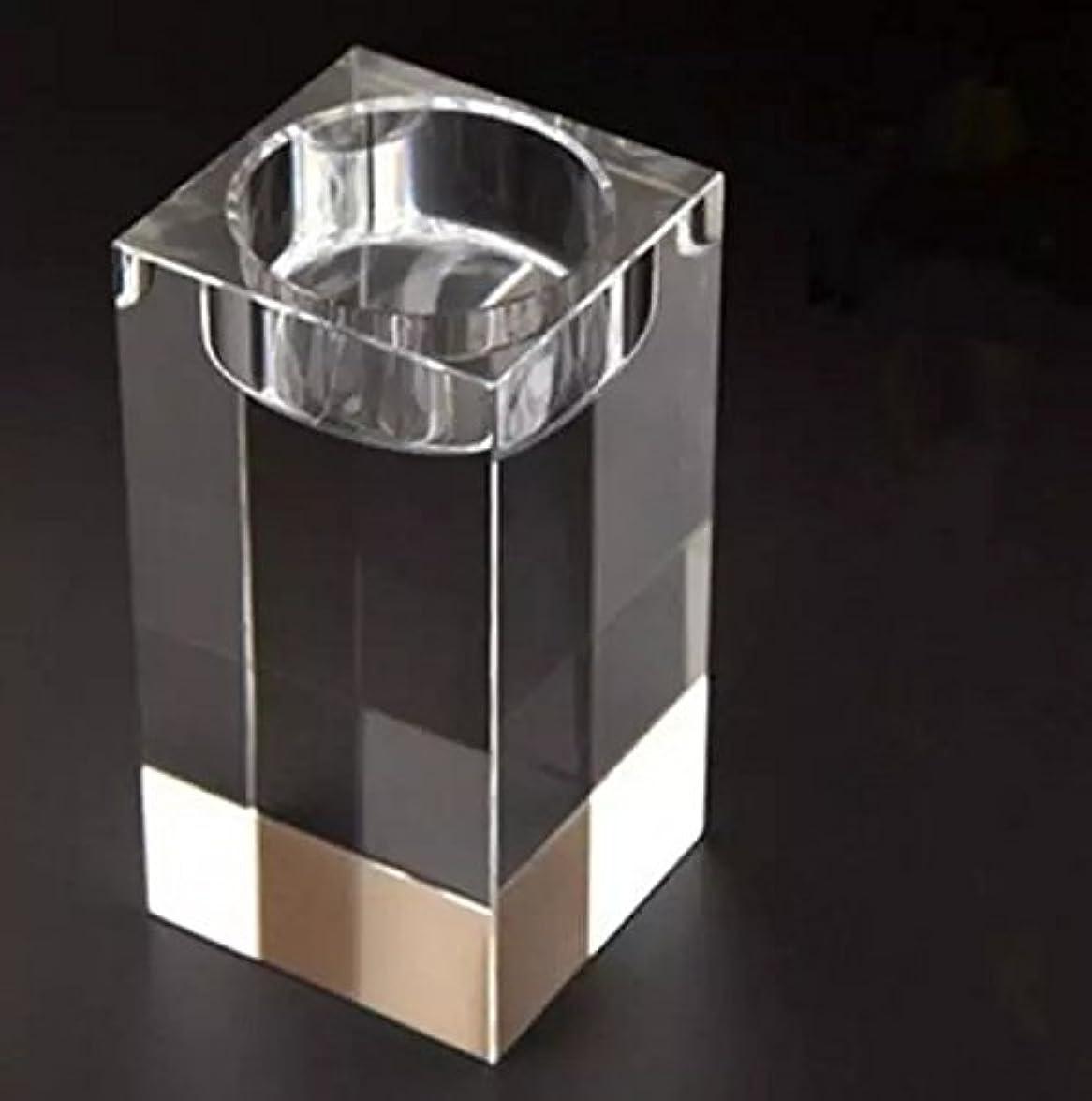 逸脱油育成水晶ガラス キューブ ティーライトキャンドル ィスプレイスタンドホルダークリア レア結晶球ホルダー用結婚式燭台センター ピース-1 pc 6x5x5 cm