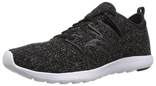 Saucony Women's EROS LACE Sneaker, Black/Speckled, 9 M US