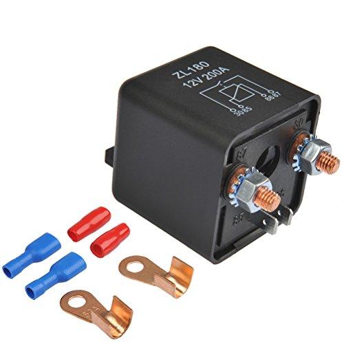 OFNMY RelaisBatterie Trennrelais 12V/200A Spitzenlast Batterietrennrelais für Auto PKW Wohnwagen