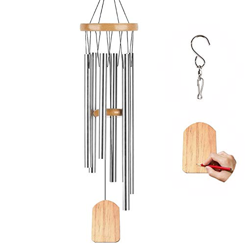 TFZBA Wind Chimes for Outside, Woodstock Chimes with S Hook DIY Wood Pendant Garden Wind Chime Home Decor Wind Chimes for Outdoor Garden Birthday Memorial Gifts