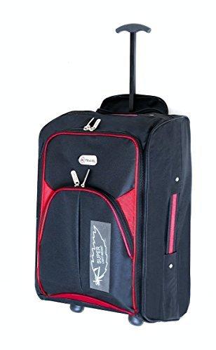 EasyJet Cabin Bag bagaglio a mano Suitecase superleggeri con estensione maniglia e ruote perfetta per tutte le compagnie aeree, tra cui Ryanair, KLM, Virgin, British Airways (rosa)