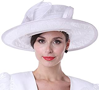 Women Church Hats Outwear Outfits Hat White Wide Brim