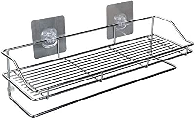 ONEPEARL(LABEL) Stainless Steel Multi Purpose Bathroom Shelf/Rack Magic Sticker