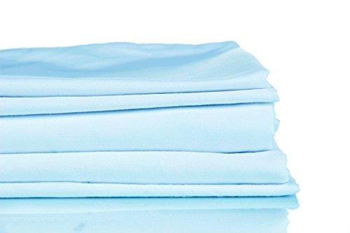 Francois et Mimi - Juego de sábanas (1200 Hilos, algodón), Color Azul Cielo