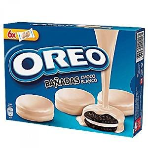 OREO WHITE CHOC biscotto cacao con ripieno alla vaniglia ricoperto di cioccolato bianco [Confezione da 3]
