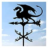 Banderuola di Corvo, Banderuola in Ferro Art Decor per Tetti Decorazione Prati da Esterno Giardini Cortili Ornamento con Rivestimento Antiruggine,D