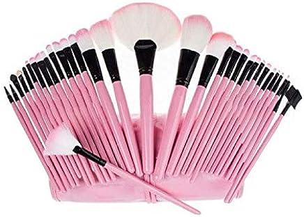 Juego De 32 Pinceles, Brochas Y Aplicadores De Maquillaje - Delineadores Profesionales