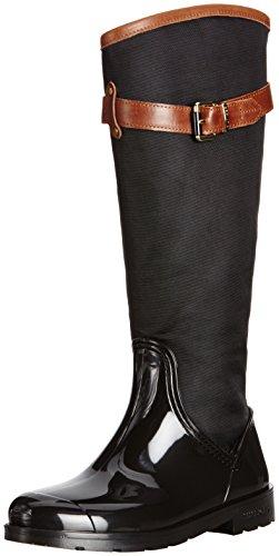 Tommy Hilfiger Oxford 16C, Damen Gummistiefel, Schwarz - Black/Winter Cognac - Größe: 36
