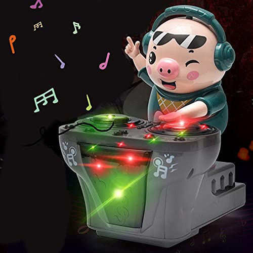 DJ Musical Toys, Electric Djing Pigs Toys for Children Singing and Dance Pigs Electric Musical Toys with Light