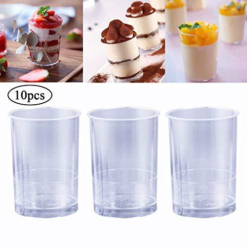 NIUPAN 50 stks doorzichtige plastic bekers voor yoghurt mousse cups verdikte transparante dessert container jelly cups dessert cups ijs cups
