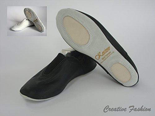 Kostov Sportswear Gimnasia Zapatillas de Ballet Wolke, Negro, 43