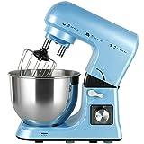 YARUMD FOOD Batidora Amasadoras Reposteria 1000W, Amasadora De Pan Para Repostería, 5L Robot De Cocina Amasador,6 Velocidades Bajo Ruido Bol De Acero Inoxidable,Azul