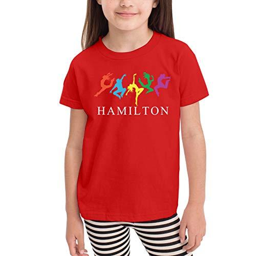 Musicals Hamilton Dancing Camisetas gráficas para niñas Adolescentes, niños y niñas, Camiseta de Manga Corta, Camisetas de algodón, Camisetas para niños, Tops 2-6t