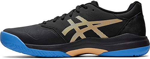 ASICS Men's Gel-Game 7 Tennis Shoes, 6M, Black/Champagne