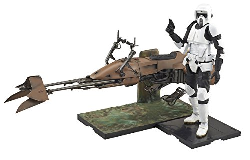 Star Wars 1/12 Scout Trooper and Speeder Bike (Japan Import) by Bandai