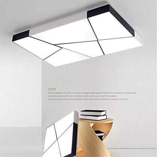 Lámpara de techo LED, luz blanca, cuadrada, lámpara de techo LED, empotrada, salón, estudio, dormitorio, iluminación.