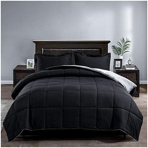 Satisomnia Lightweight Down Alternative Comforter Set Queen Reversible All Season Quilted Bed product image