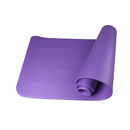 ROVNKD - Esterilla de yoga para entrenamiento físico (10 mm), color morado, tamaño Talla única