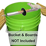 Odesos Mouse Trap, Live Catch and Release Bucket Spin Roller with an Original Ring for Mice Rats Rodents. Humane. Auto Rolling Reset. Safe for Children and Pets Works Outdoors and Indoors