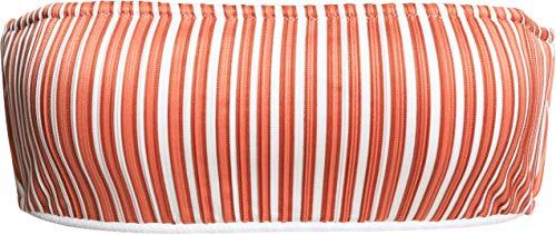 Roxy Junior's Sandy Treasure Underwire Bandeau Swimsuit Top, Bright White Loust Stripes, S
