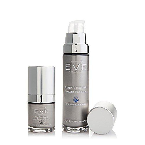EVE REBIRTH Kit : Soin Anti-Rides Contour des Yeux Bio-Intelligent, 15 ml + Soin Hydratant Visage Oxygène, 50 ml