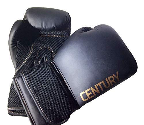 Century Training Boxing Gloves Black/Gold Mesh Palm 14 oz