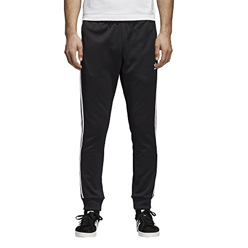 adidas Men's Originals Superstar Track Pants, Black, M