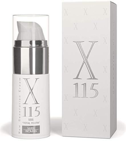 X115 ® | Anti Falten Creme Gesicht | Für Männer | Hyaluronsäure, Vitamin C, Kollagen | 1er Pack (1 x 15 ml)