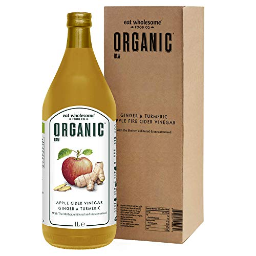 Eat Wholesome Organic Ginger, Turmeric and Chilli Raw Apple Fire Cider Vinegar with The Mother, in Box, 1L