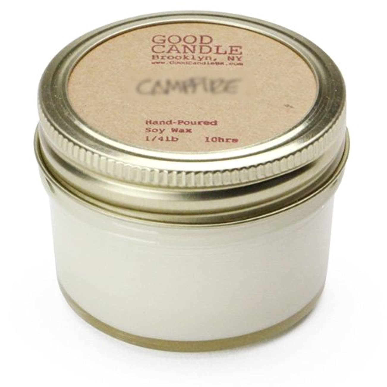 航空機あさり回復グッドキャンドル 1/4ポンド ゼリージャー キャンドル Good Candle 1/4LB Jelly jar candle [ Camp fire ] 正規品