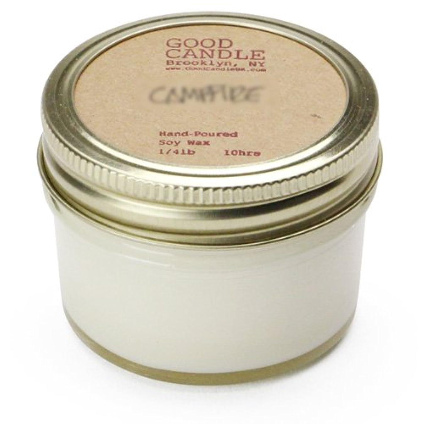 動物園固有のボールグッドキャンドル 1/4ポンド ゼリージャー キャンドル Good Candle 1/4LB Jelly jar candle [ Camp fire ] 正規品