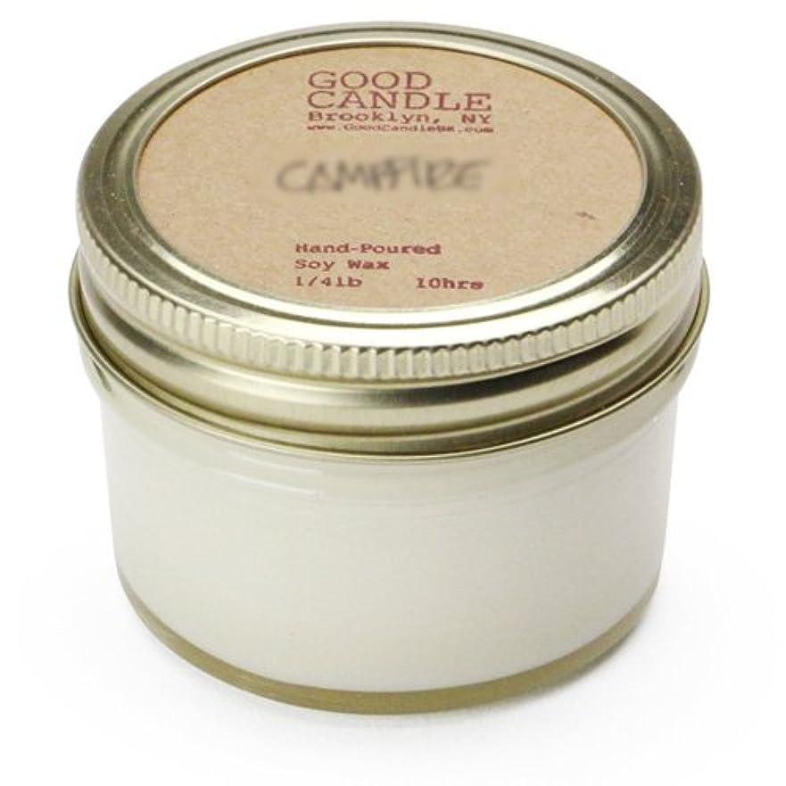 ログネクタイ再生的グッドキャンドル 1/4ポンド ゼリージャー キャンドル Good Candle 1/4LB Jelly jar candle [ Camp fire ] 正規品