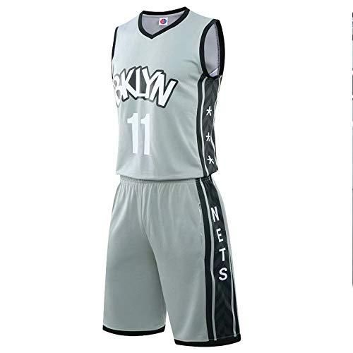 QJJ Conjunto De Camiseta De Baloncesto para Hombre Brooklyn Nets # 11 Kyrie Irving, Camiseta Sin Mangas + Pantalones Cortos Deportivos, Uniforme De Entrenamiento De Cami XXL