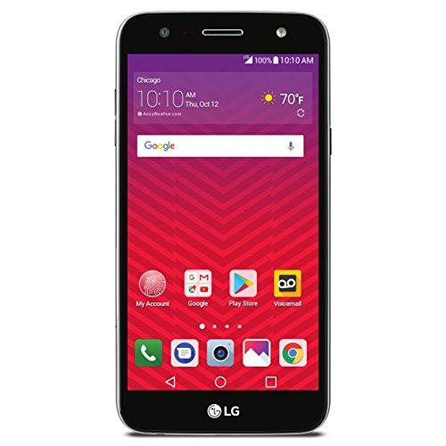LG Virgin Mobile LGSP320AVB X Charge 4G LTE Prepaid Carrier Locked 5.5Inch Screen 16GB - Titan Black