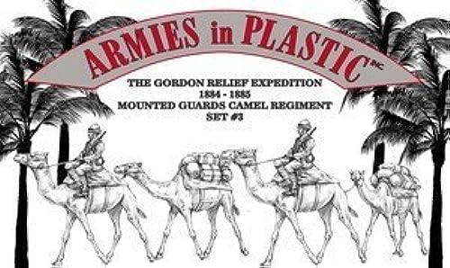 Ven a elegir tu propio estilo deportivo. Egypt and Sudan - Gordon Relief Expedition Camel Corps Mounted Mounted Mounted Guard Set  3  6 piece set of 54mm Plastic Army Men Figures - 1 32 Scale by Armies in Plastic  envio rapido a ti