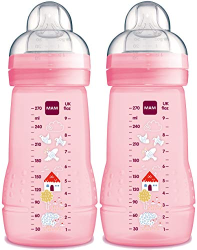 MAM - Easy Active Baby Bottle 270 ml - Doppelpack - 3 Farben