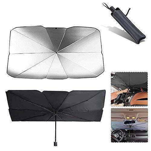 mysticall Parabrisas retráctil Parasol Sombrilla, Rayos Anti-UV y Calor Protector de Visera...
