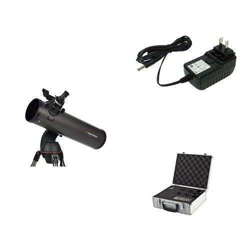 Read About Celestron NexStar 130 SLT Computerized Telescope with 18778 AC Adapter (Black), Eyepiece ...