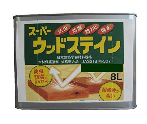 スーパーウッドステイン (オリーブ 8L/缶) 木材保護塗料 吉田製油所 キシラデコール同等品