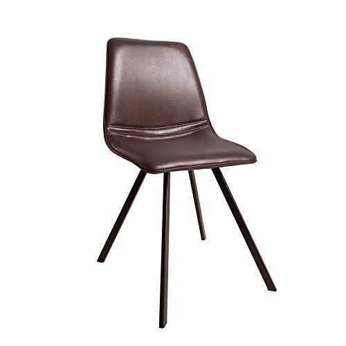 Invicta Interior Retro Stuhl Amsterdam Chair Braun Designklassiker Antik Look Esszimmerstuhl Küchenstuhl