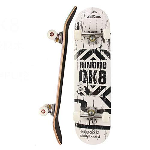Skateboards compleet 31 inch mini cruiser retro skateboard voor kinderen jongens jongeren beginners, esdoornhout volwassen trucs skate board voor beginners, 80x20cm