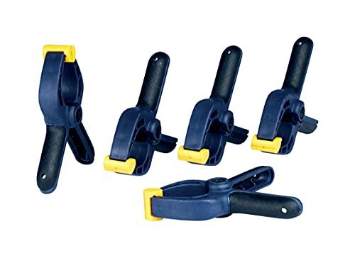 Rapid Mini-Klemmzwingen-Set mit 5 Stück, Mini-Federzwingen zum Fixieren des Werkstücks bis 35 mm