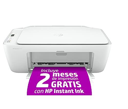 HP DeskJet 2720 - Impresora multifunción, Wi-Fi, Bluetooth, copia, escanea, compatible con Instant Ink (3XV18B)