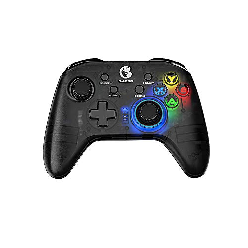 2.4G Mando Inalámbrico / Gamepad Pubg Games Controller Joystick para Windows PC Switch PS3 TV BOX Smartphones, Cuerpo Translúcido, Giroscopio de 6 Ejes